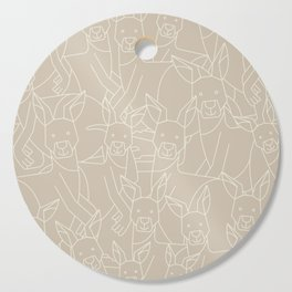 Minimalist Kangaroo Cutting Board