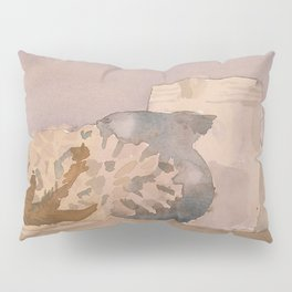 Watercolor Still Life in Purple and Yellow Pillow Sham