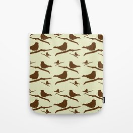 Brown Bird Silhouette Tote Bag