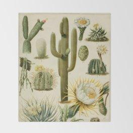 Naturalist Cacti Throw Blanket