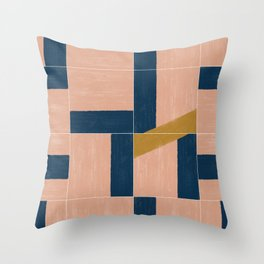 Painted Wall Tiles 02 #society6 #pattern Throw Pillow