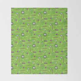 Circuit Board Throw Blanket