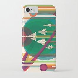 NASA Retro Space Travel Poster #5 iPhone Case