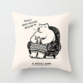 A Grizzly Bear Throw Pillow