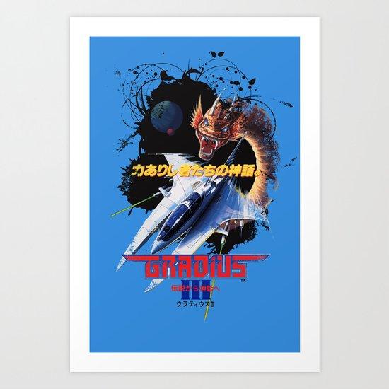 Gradius 3 Art Print