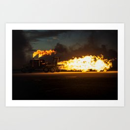 Shockwave Jet Truck Art Print