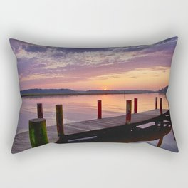 Sunset at Denbigh Pier Rectangular Pillow