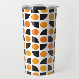 Geometric Pattern 175 (orange spots) Travel Mug