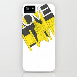 HATE LOVE iPhone Case
