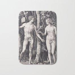 Adam and Eve by Albrecht Dürer Bath Mat