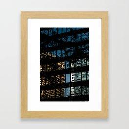 Downtown X-ing II Framed Art Print