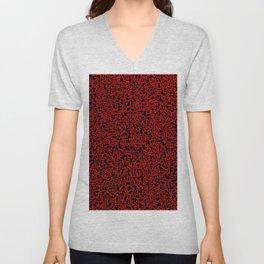 thought 2, red on black Unisex V-Neck