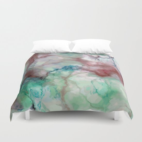Colorful Watercolor Marble Duvet Cover By Catyarte Society6