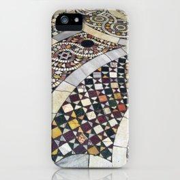 Mosaic Tile Vatican Floor (Hidden Jewish Star) iPhone Case