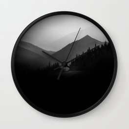 Dusky Mountains Wall Clock