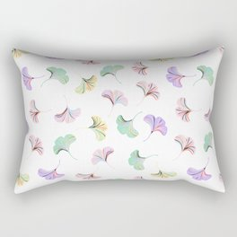 Ditsy pattern with ginkgo leaves on white Rectangular Pillow
