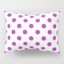 Polka Dots (Purple & White Pattern) Pillow Sham
