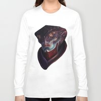 mass effect Long Sleeve T-shirts featuring Mass Effect: Javik by Ruthie Hammerschlag