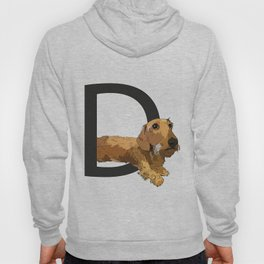 D is for Dachshund Dog Hoody