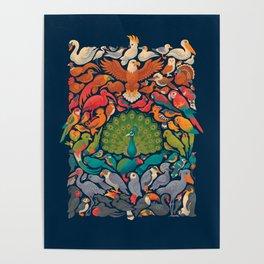 Aerial Spectrum : Blue Poster