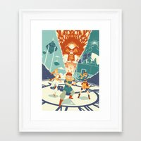 chrono trigger Framed Art Prints featuring Chrono Trigger by Joe Byrne