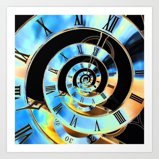Infinite Time Blue Art Print