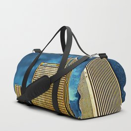 Glittering Chicago Skyline Duffle Bag