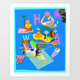 whoop Art Print