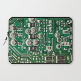 Circuit Board Macro Laptop Sleeve