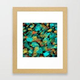 Colorful Pebbles on the Beach Framed Art Print
