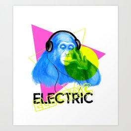 Electric Chimp Art Print