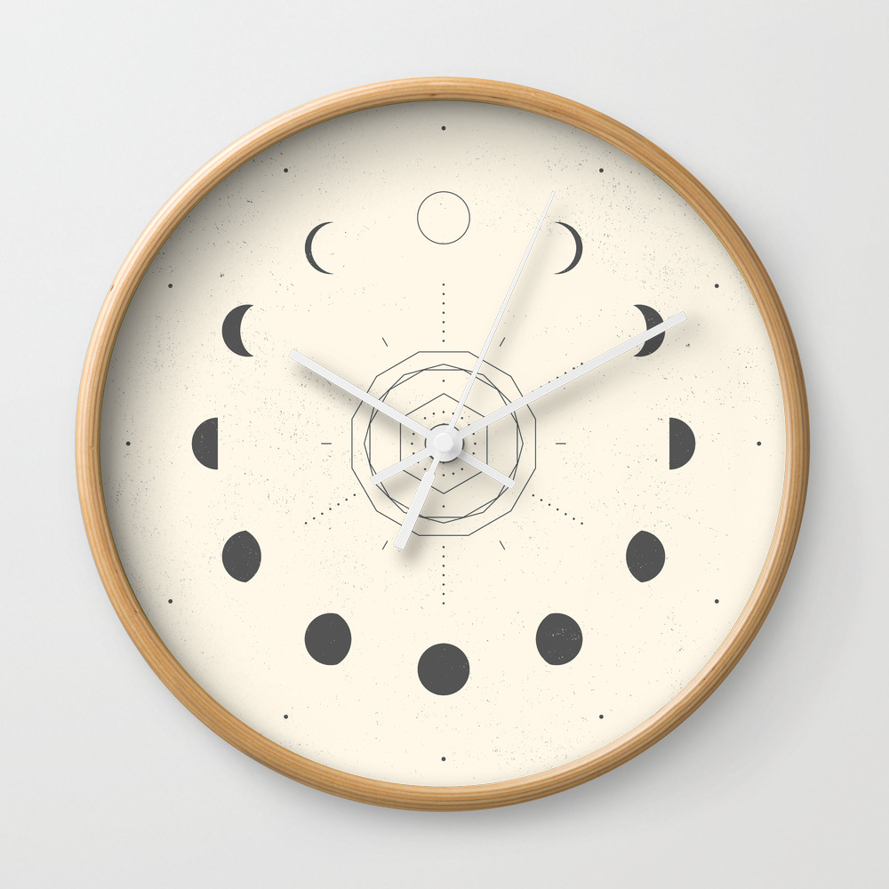 Moon Phases Light Wall Clock by Naylasmith