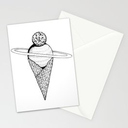 Space Cream Stationery Cards