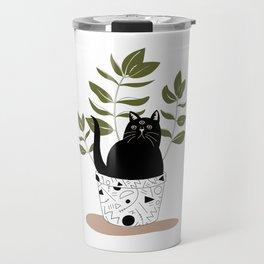 Cat Plant Travel Mug