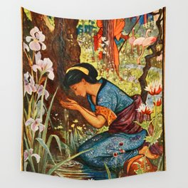 The Girl with the Wooden Helmet Wall Tapestry