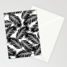 Palm Frond Tropical Décor Leaf Pattern Black on White Stationery Cards