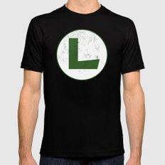 Luigi Hero Mens Fitted Tee LARGE Black