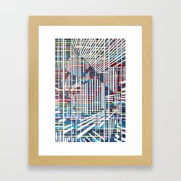 Lines 6 Framed Art Print