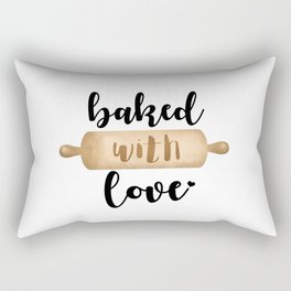 Baked With Love - Rolling Pin Rectangular Pillow