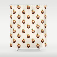 apple Shower Curtains featuring Apple by Nikita