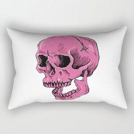 Hot Pink Skull (death is cool) Rectangular Pillow