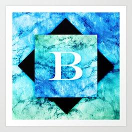 B - Monogram Vivids Art Print