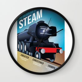 THE GOLDEN AGE OF STEAM VINTAGE POSTER Wall Clock