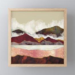 Melon Mountains Framed Mini Art Print