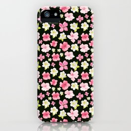 Blooms On Black iPhone Case