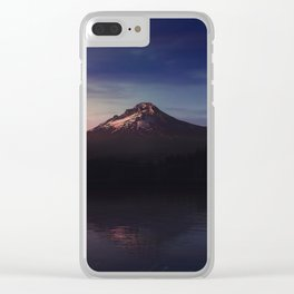 Mount Hood over Trillium Lake Clear iPhone Case