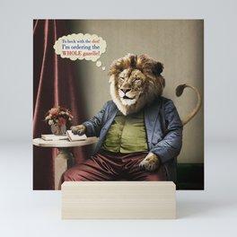Hungry Lion Mini Art Print