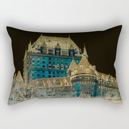 inverted Chateau Frontenac Rectangular Pillow