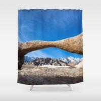 alabama Shower Curtains featuring Alabama Arch by davehare