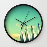 vancouver Wall Clocks featuring Loving Vancouver by Irène Sneddon